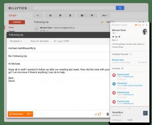 HubSpot Sidekick Contact App