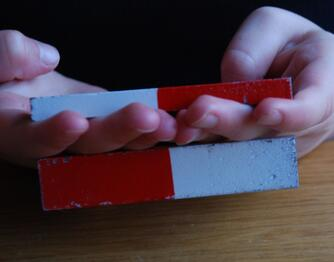 Fingers caught between powerful magnets