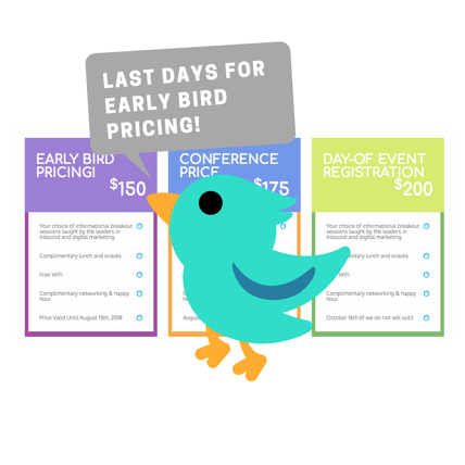 Last days for early bird pricing! (1)