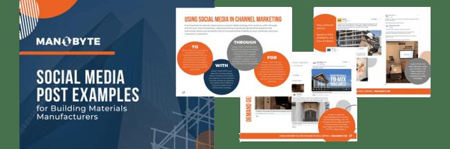 Building Materials Marketing Social Media Post Examples