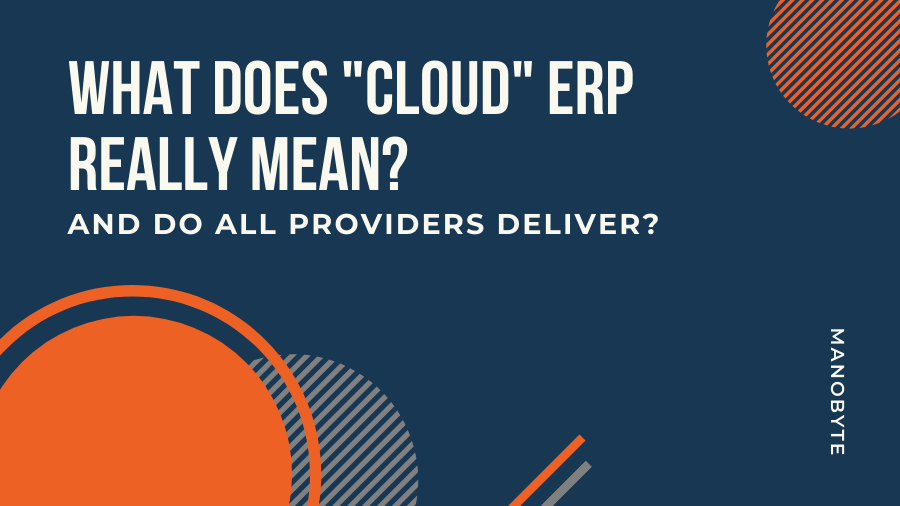 What Does Cloud ERP Really Mean?