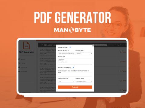 HubSpot Form Submission PDF Generator App